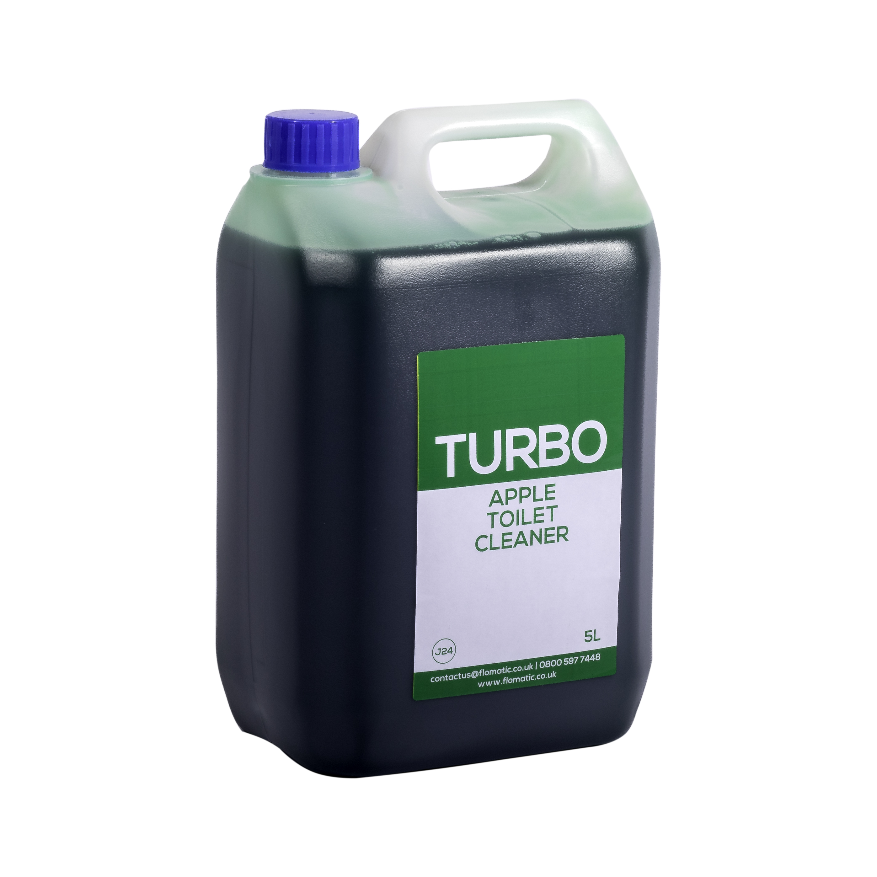Turbo Apple Scented Liquid Toilet Cleaner Flomatic